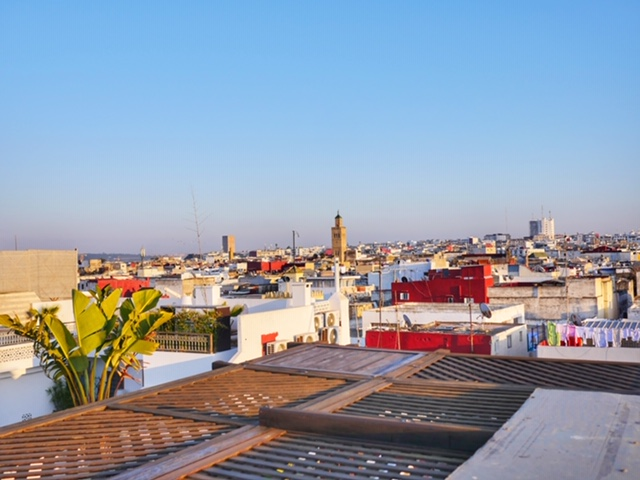 Riad Marhaba Rabat - view from rooftop terrace