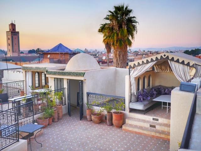 Riad Star Marrakech terrace at sunset