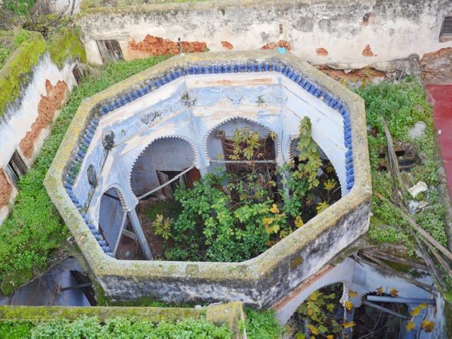 Ruins of a riad nextdoor to Riad Marhaba Rabat
