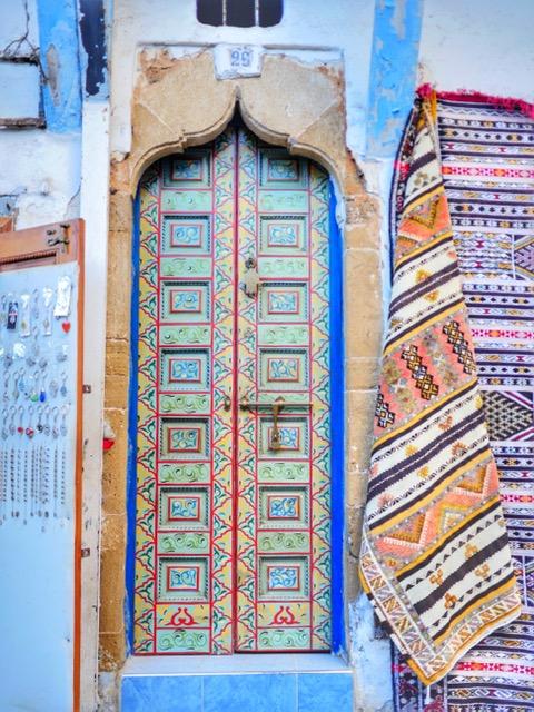 Colorful door in Rabat
