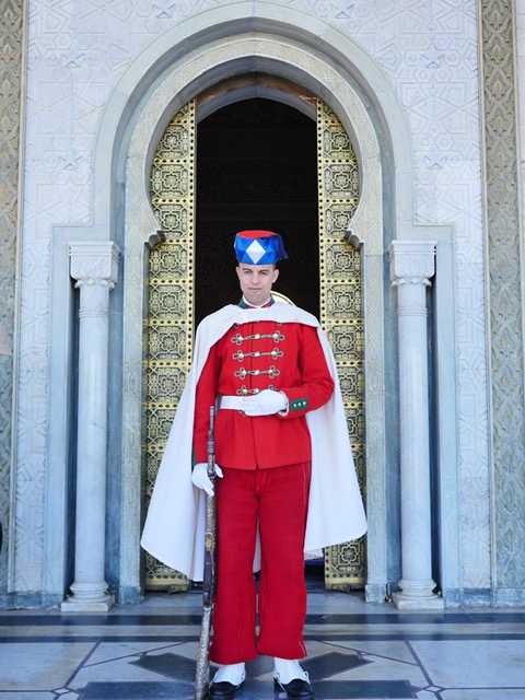 Guard at Mausoleum of Mohammed V