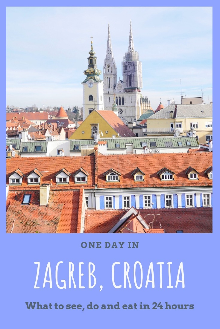 One day in Zagreb Croatia