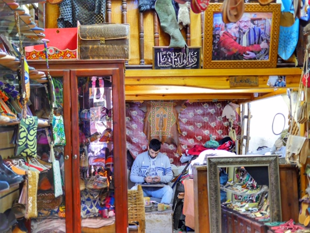 Sabir shoe store in Marrakech