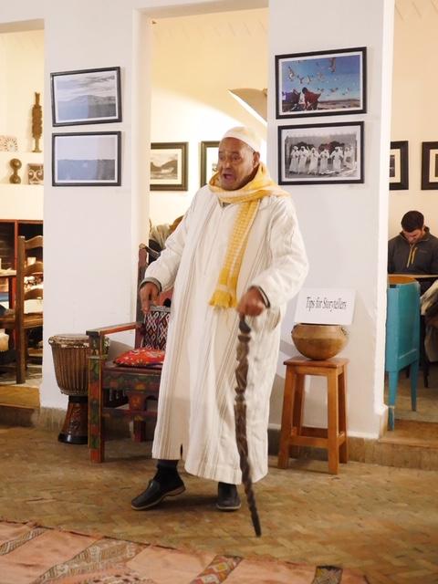 Storyteller at Cafe Clock Marrakech