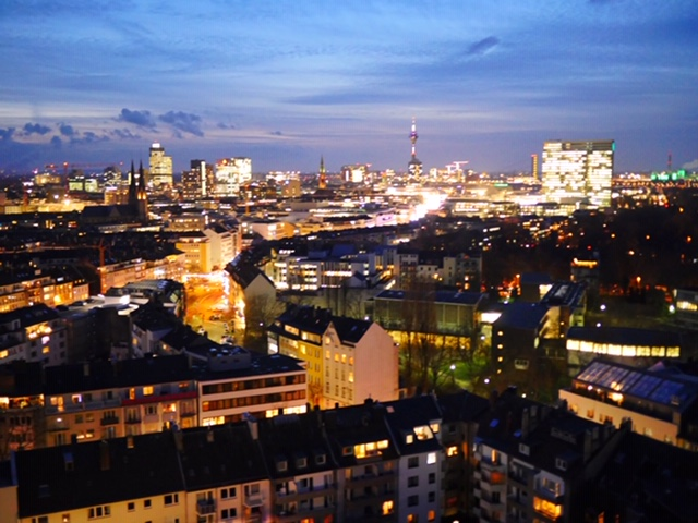The best view of Düsseldorf from The Paris Bar at 25Hours Hotel