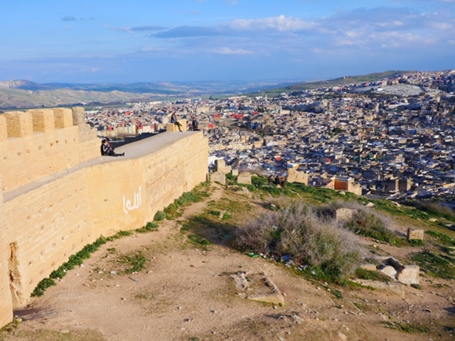 Watch the sunset from the ramparts in Fes