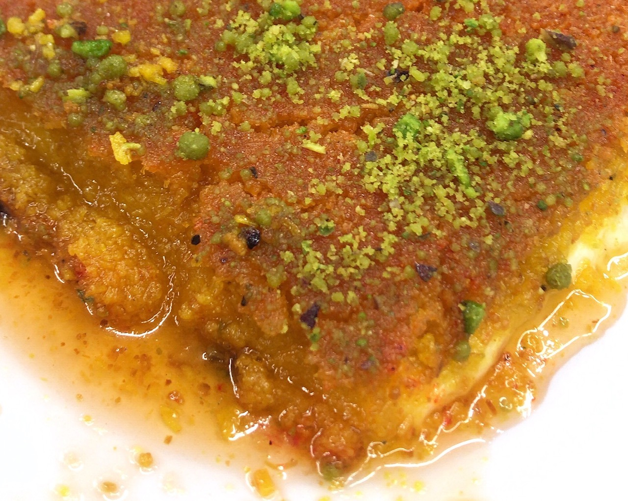 Knafeh at Jaffar Sweets